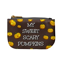 Scary Sweet Funny Cute Pumpkins Hallowen Ecard Mini Coin Purses by Amaryn4rt