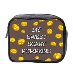 Scary Sweet Funny Cute Pumpkins Hallowen Ecard Mini Toiletries Bag 2 Side by Amaryn4rt