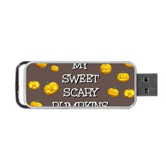 Scary Sweet Funny Cute Pumpkins Hallowen Ecard Portable Usb Flash (two Sides) by Amaryn4rt