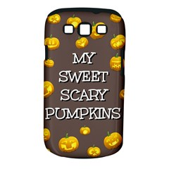 Scary Sweet Funny Cute Pumpkins Hallowen Ecard Samsung Galaxy S Iii Classic Hardshell Case (pc+silicone) by Amaryn4rt