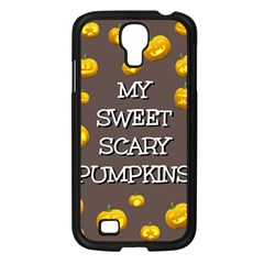 Scary Sweet Funny Cute Pumpkins Hallowen Ecard Samsung Galaxy S4 I9500/ I9505 Case (black)