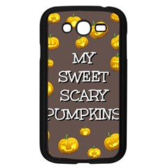 Scary Sweet Funny Cute Pumpkins Hallowen Ecard Samsung Galaxy Grand Duos I9082 Case (black) by Amaryn4rt
