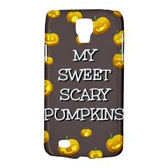 Scary Sweet Funny Cute Pumpkins Hallowen Ecard Galaxy S4 Active by Amaryn4rt