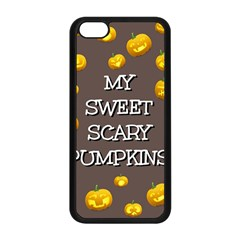Scary Sweet Funny Cute Pumpkins Hallowen Ecard Apple Iphone 5c Seamless Case (black) by Amaryn4rt