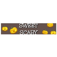 Scary Sweet Funny Cute Pumpkins Hallowen Ecard Flano Scarf (small) by Amaryn4rt