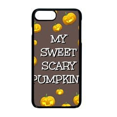 Scary Sweet Funny Cute Pumpkins Hallowen Ecard Apple Iphone 7 Plus Seamless Case (black) by Amaryn4rt