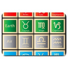 Set Of The Twelve Signs Of The Zodiac Astrology Birth Symbols Large Doormat  by Amaryn4rt