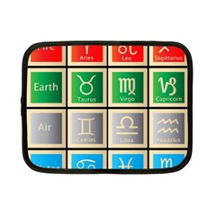 Set Of The Twelve Signs Of The Zodiac Astrology Birth Symbols Netbook Case (small)  by Amaryn4rt
