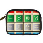 Set Of The Twelve Signs Of The Zodiac Astrology Birth Symbols Digital Camera Cases Front