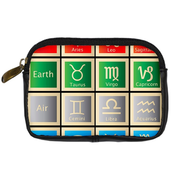 Set Of The Twelve Signs Of The Zodiac Astrology Birth Symbols Digital Camera Cases