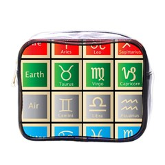 Set Of The Twelve Signs Of The Zodiac Astrology Birth Symbols Mini Toiletries Bags by Amaryn4rt
