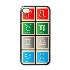 Set Of The Twelve Signs Of The Zodiac Astrology Birth Symbols Apple Iphone 4 Case (black) by Amaryn4rt