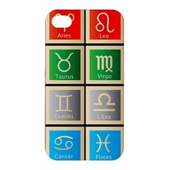 Set Of The Twelve Signs Of The Zodiac Astrology Birth Symbols Apple Iphone 4/4s Hardshell Case by Amaryn4rt