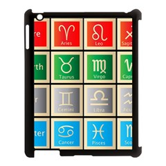 Set Of The Twelve Signs Of The Zodiac Astrology Birth Symbols Apple Ipad 3/4 Case (black) by Amaryn4rt