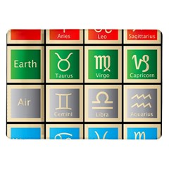 Set Of The Twelve Signs Of The Zodiac Astrology Birth Symbols Samsung Galaxy Tab 10 1  P7500 Flip Case by Amaryn4rt