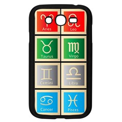 Set Of The Twelve Signs Of The Zodiac Astrology Birth Symbols Samsung Galaxy Grand Duos I9082 Case (black)