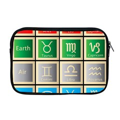 Set Of The Twelve Signs Of The Zodiac Astrology Birth Symbols Apple Macbook Pro 17  Zipper Case by Amaryn4rt