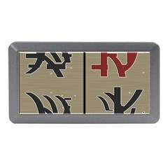 Xia Script On Gray Background Memory Card Reader (mini) by Amaryn4rt