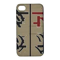 Xia Script On Gray Background Apple Iphone 4/4s Hardshell Case With Stand by Amaryn4rt