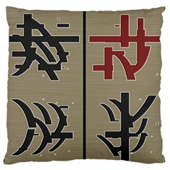 Xia Script On Gray Background Large Flano Cushion Case (two Sides) by Amaryn4rt