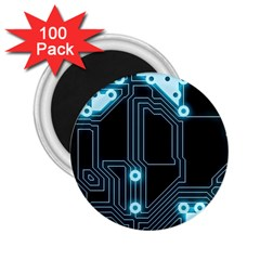 A Completely Seamless Background Design Circuitry 2 25  Magnets (100 Pack)  by Amaryn4rt