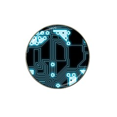 A Completely Seamless Background Design Circuitry Hat Clip Ball Marker (4 Pack) by Amaryn4rt