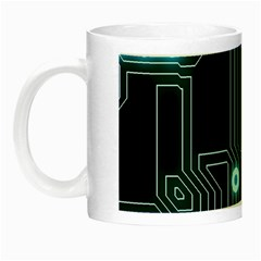 A Completely Seamless Background Design Circuitry Night Luminous Mugs by Amaryn4rt