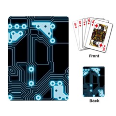 A Completely Seamless Background Design Circuitry Playing Card by Amaryn4rt