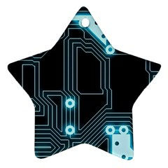 A Completely Seamless Background Design Circuitry Star Ornament (two Sides) by Amaryn4rt
