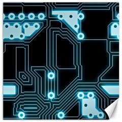 A Completely Seamless Background Design Circuitry Canvas 12  X 12   by Amaryn4rt