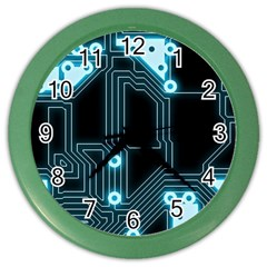 A Completely Seamless Background Design Circuitry Color Wall Clocks by Amaryn4rt