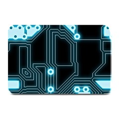 A Completely Seamless Background Design Circuitry Plate Mats by Amaryn4rt