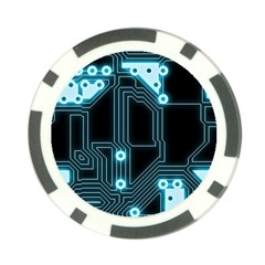 A Completely Seamless Background Design Circuitry Poker Chip Card Guard (10 Pack) by Amaryn4rt