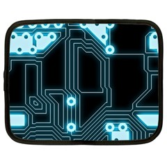 A Completely Seamless Background Design Circuitry Netbook Case (xxl)  by Amaryn4rt