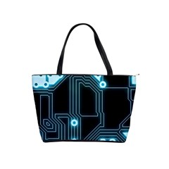 A Completely Seamless Background Design Circuitry Shoulder Handbags by Amaryn4rt