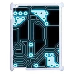 A Completely Seamless Background Design Circuitry Apple Ipad 2 Case (white) by Amaryn4rt