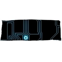 A Completely Seamless Background Design Circuitry Body Pillow Case (dakimakura) by Amaryn4rt