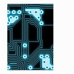 A Completely Seamless Background Design Circuitry Small Garden Flag (two Sides) by Amaryn4rt