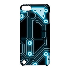 A Completely Seamless Background Design Circuitry Apple Ipod Touch 5 Hardshell Case With Stand by Amaryn4rt