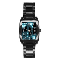 A Completely Seamless Background Design Circuitry Stainless Steel Barrel Watch by Amaryn4rt