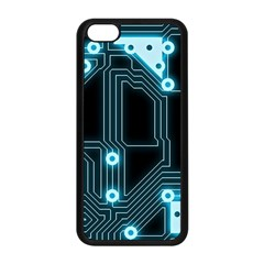 A Completely Seamless Background Design Circuitry Apple Iphone 5c Seamless Case (black) by Amaryn4rt