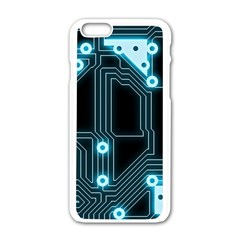 A Completely Seamless Background Design Circuitry Apple Iphone 6/6s White Enamel Case