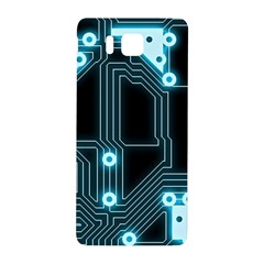 A Completely Seamless Background Design Circuitry Samsung Galaxy Alpha Hardshell Back Case by Amaryn4rt