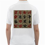 Ancient Chinese Secrets Characters Golf Shirts Back