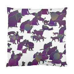 Many Cats Silhouettes Texture Standard Cushion Case (one Side) by Amaryn4rt
