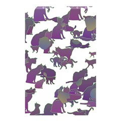 Many Cats Silhouettes Texture Shower Curtain 48  X 72  (small)  by Amaryn4rt