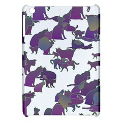 Many Cats Silhouettes Texture Apple Ipad Mini Hardshell Case by Amaryn4rt
