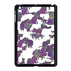 Many Cats Silhouettes Texture Apple Ipad Mini Case (black) by Amaryn4rt