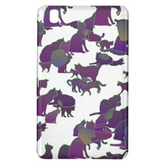 Many Cats Silhouettes Texture Samsung Galaxy Tab Pro 8 4 Hardshell Case by Amaryn4rt