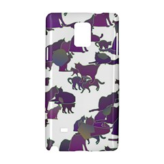 Many Cats Silhouettes Texture Samsung Galaxy Note 4 Hardshell Case by Amaryn4rt